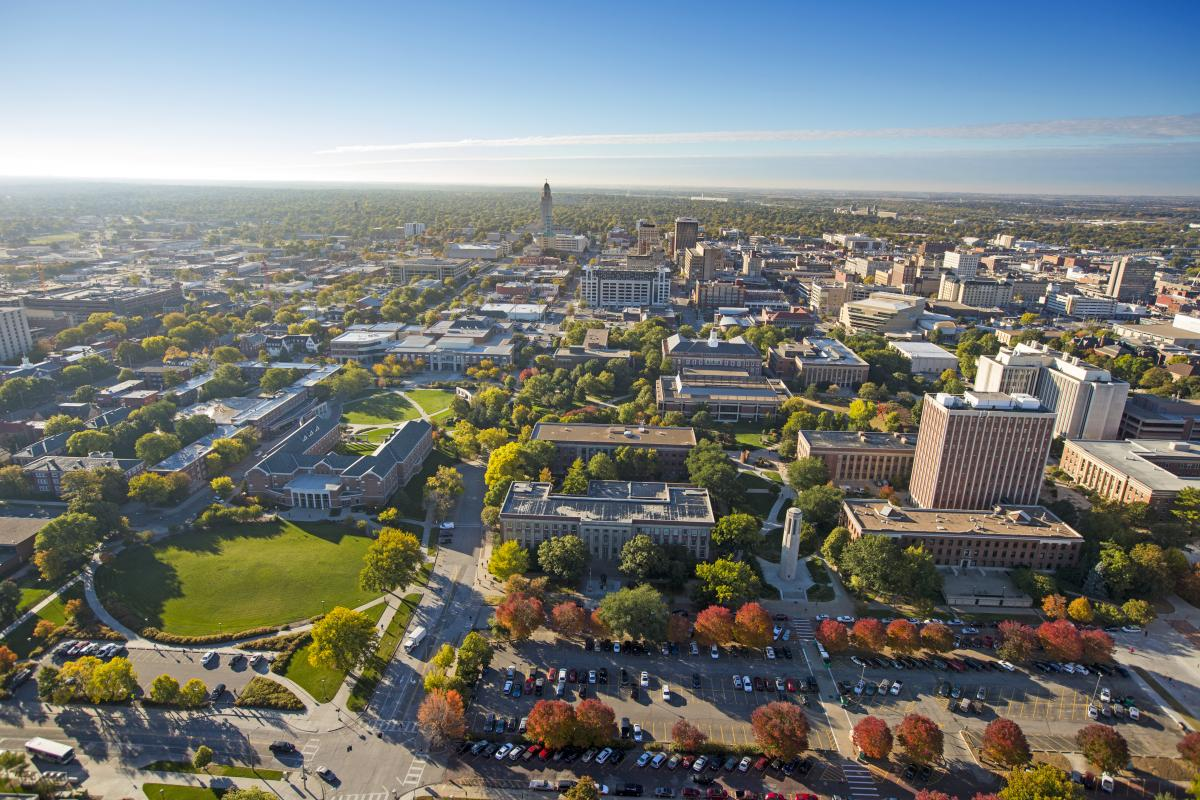 An aerial photo of UNL City Campus.